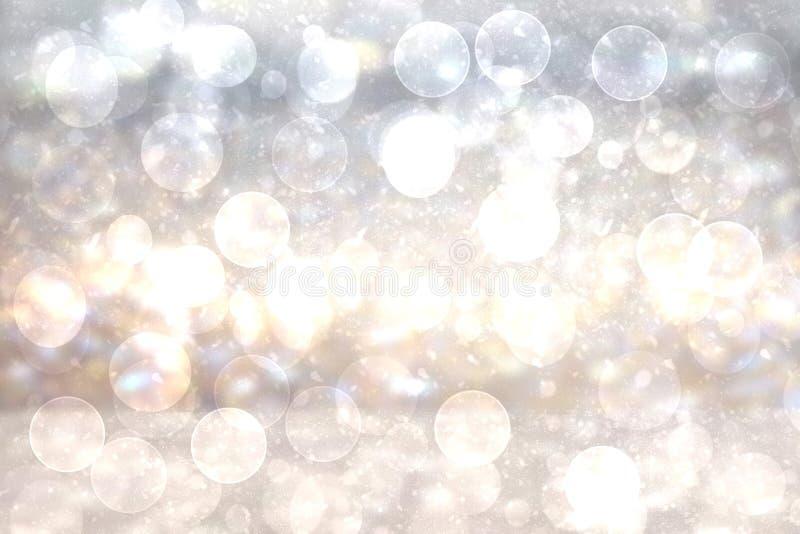 Texture brillante de fond de scintillement d'or argenté lumineux de fête de résumé avec les étoiles de scintillement Dirigé vers  illustration de vecteur