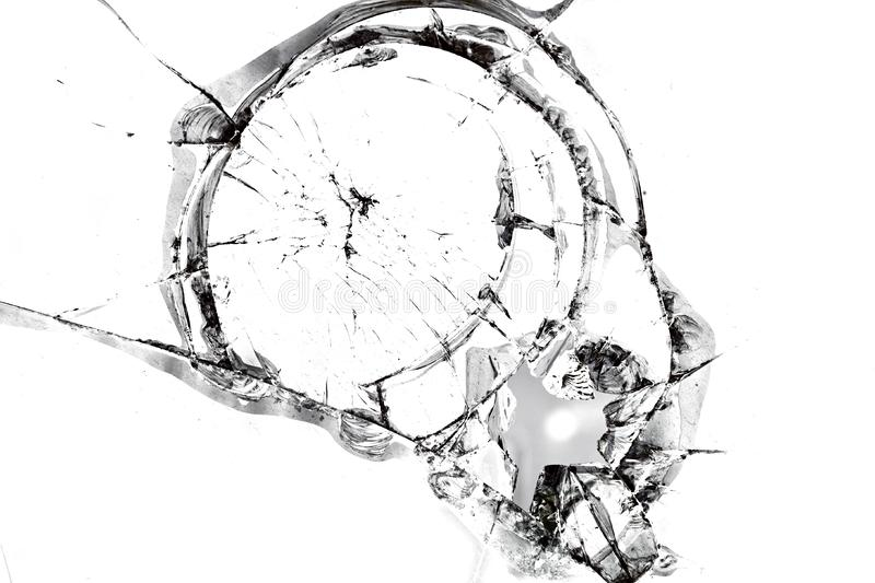 Texture of broken glass royalty free stock images