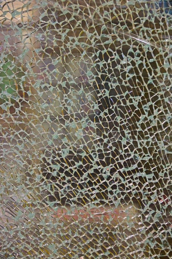 Texture of broken tempered glass stock image