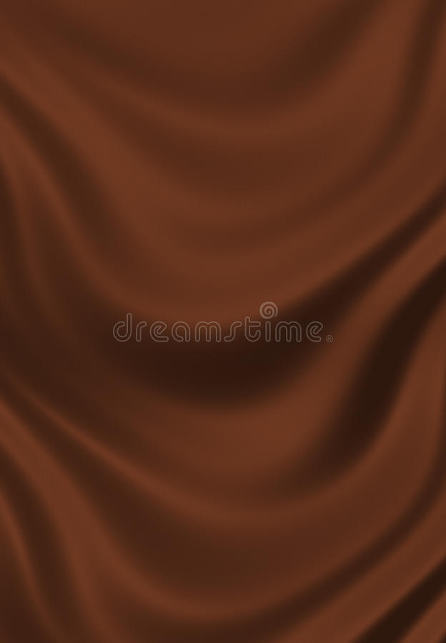Texture of brown chocolate silk close up royalty free illustration