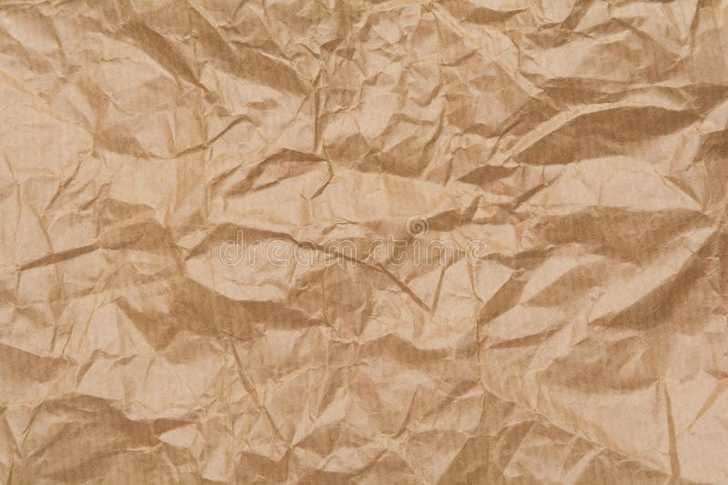 Texture of brown crumpled paper bag royalty free stock photo
