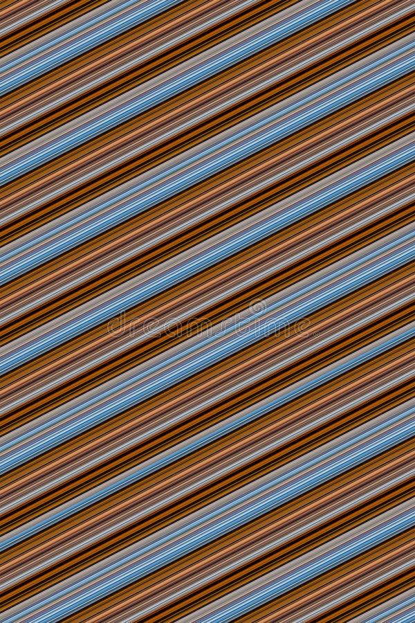 Texture brown oblique stripes gray blue parallel ribbed creamy background base design web site stock illustration