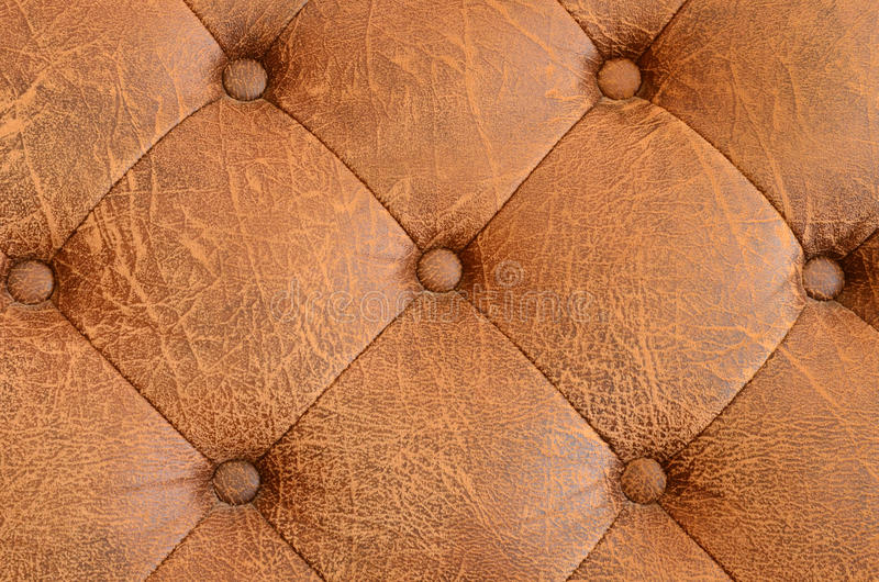 Texture of brown vintage sofa stock image