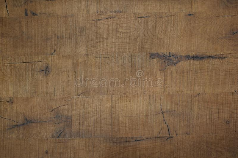 Texture of brown wood. Rough planks with cracks and knots. Texture of brown wood. Rough planks stock photography