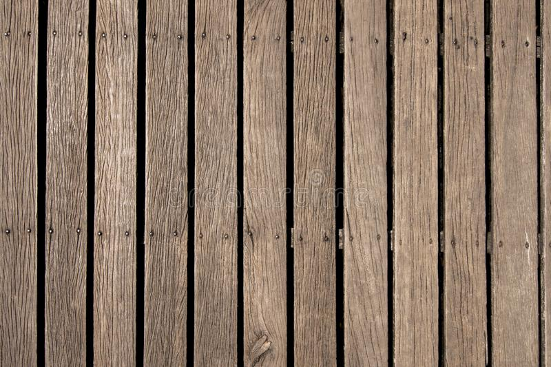 Texture of brown wooden surface background. Top view angle stock image