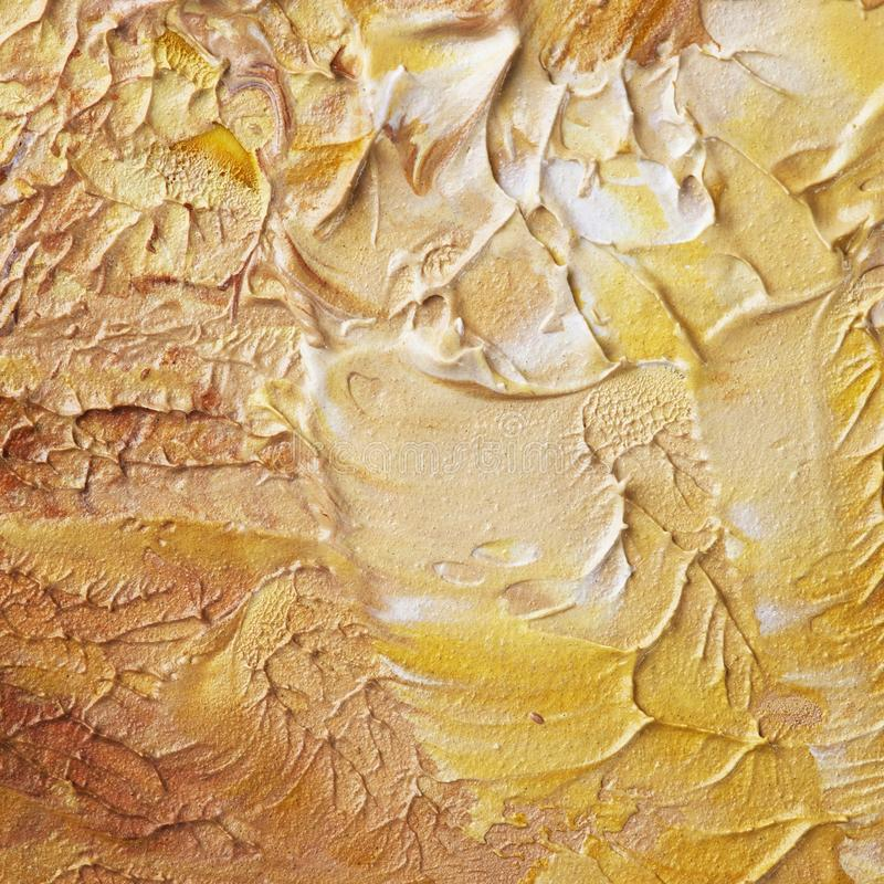 Texture brune beige de peinture à l'huile photo stock