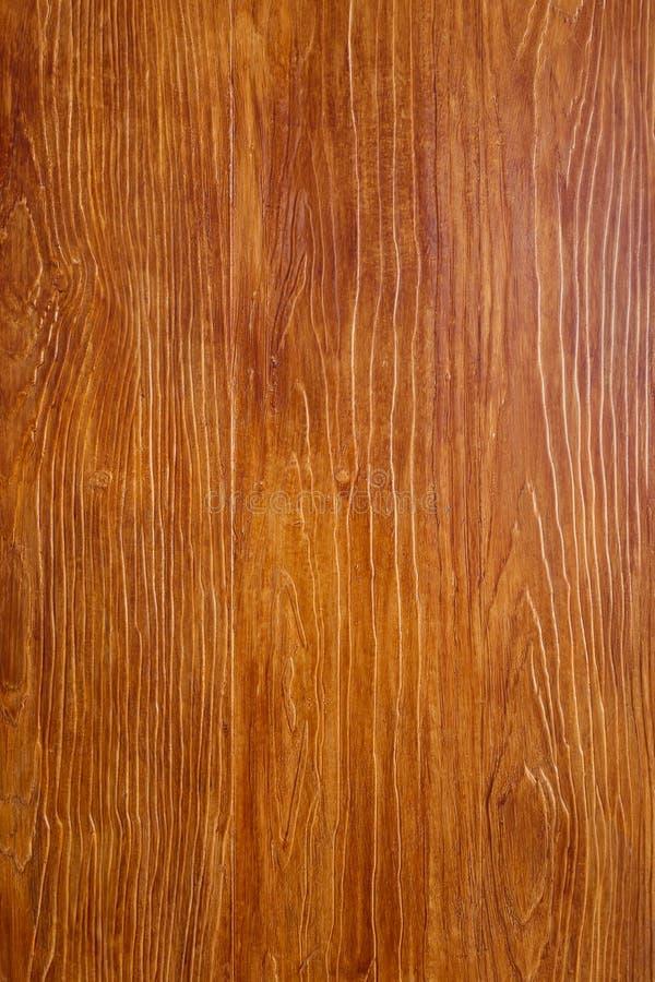 Texture brune en bois de grain, vue supérieure de table en bois photo libre de droits