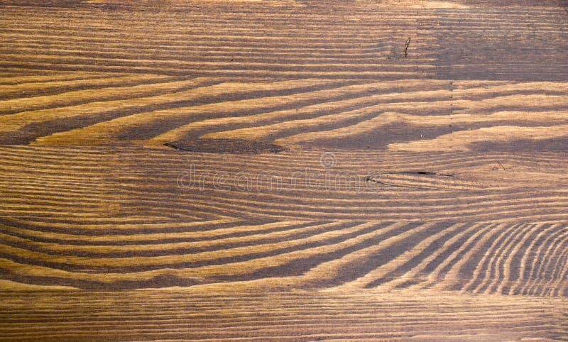 Texture brune en bois de grain, vue supérieure du fond en bois de mur de table en bois image libre de droits