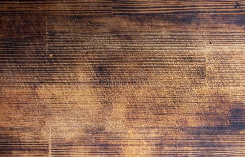 Texture brune en bois de grain, vue supérieure du fond en bois de mur de table en bois photographie stock libre de droits