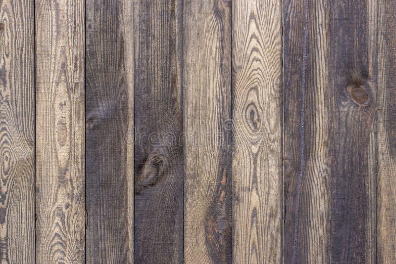 Texture brune en bois de grain, vue supérieure du fond en bois de mur de table en bois photographie stock