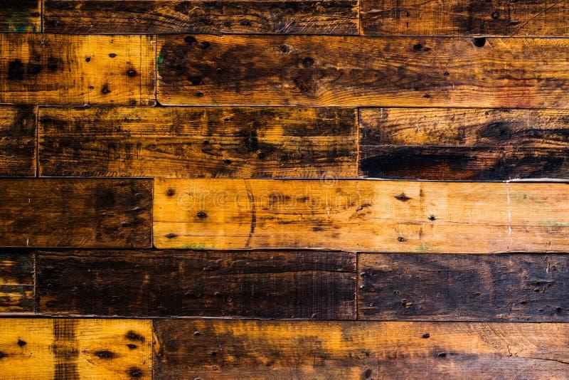 Texture brune en bois de grain, vue sup?rieure du fond en bois de mur de table en bois images stock
