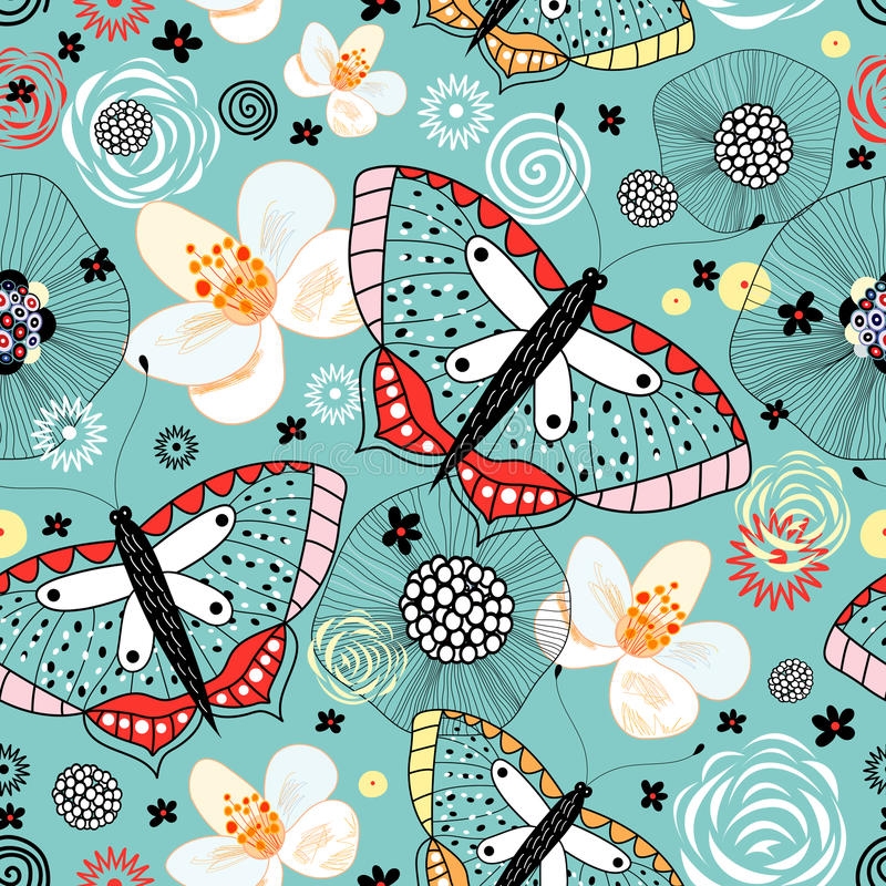 Download Texture Of A Butterfly And Flowers Stock Photo - Image of color, butterflies: 25469750