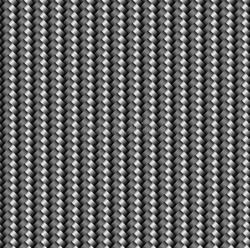 The texture of the carbon cloth is black. Lightweight and durable modern material. The texture of the carbon cloth is black. Lightweight and durable modern royalty free illustration