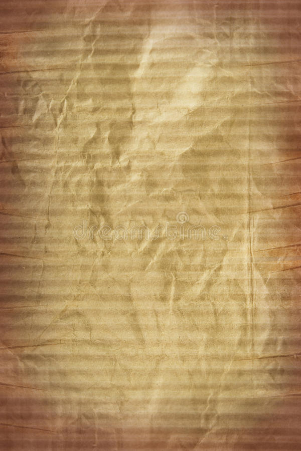 Texture of cardboard crumpled brown paper royalty free stock photography