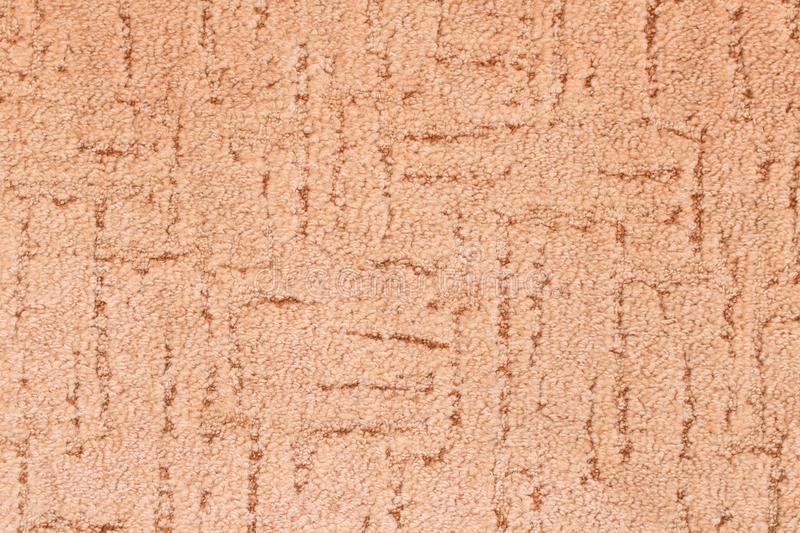 The texture of the carpet . Detailed beige background . stock image
