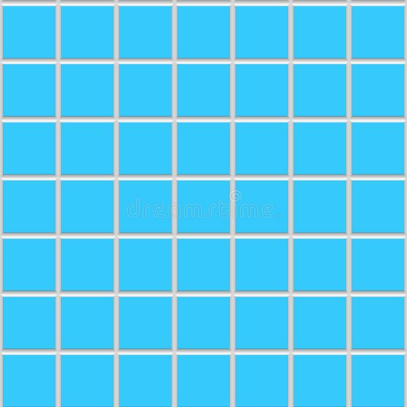Texture carrée bleue de carreaux de céramique illustration libre de droits