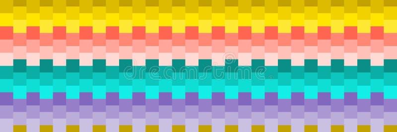 texture carrée colorée sans couture horizontale pour le modèle et le fond illustration de vecteur