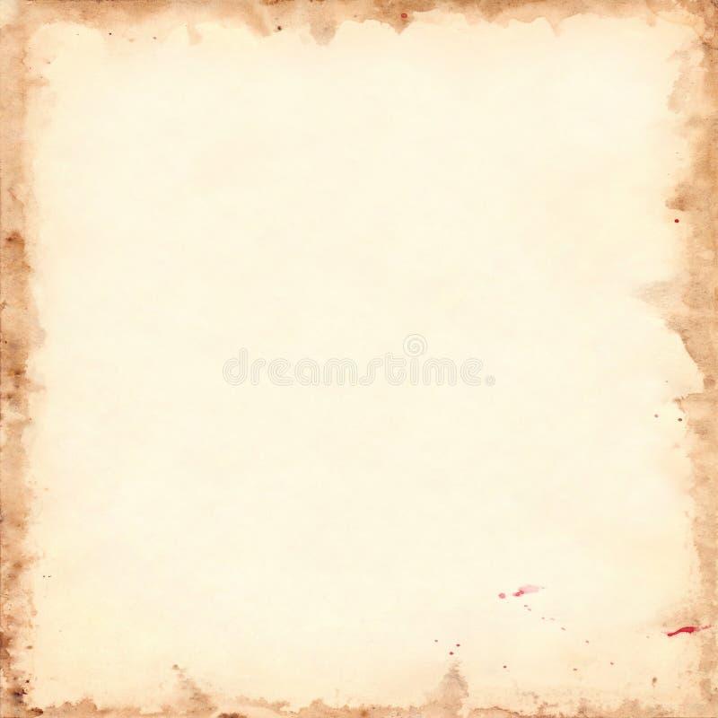 Texture carrée grunge de fond de rétro feuille de papier de vintage illustration stock