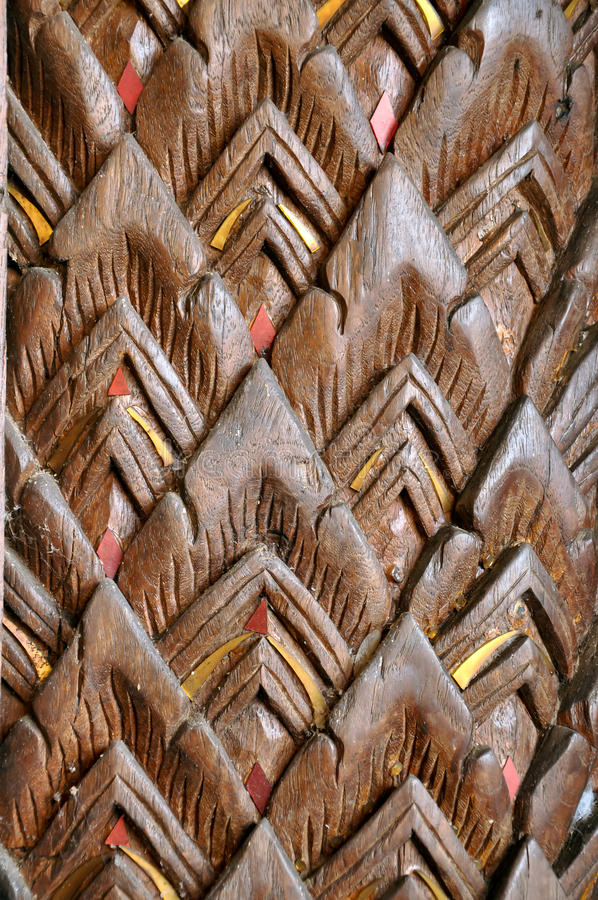Texture of carved wood. In the interior royalty free stock photography