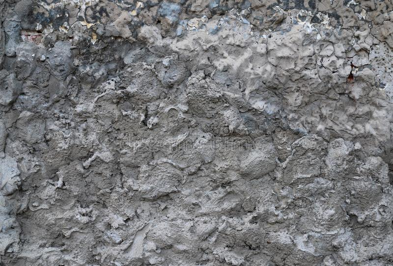 Texture of a cement used as an exterior coating on a building. As a background royalty free stock images