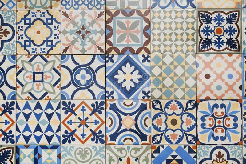 Texture of ceramic tiles in oriental turkish style stock photography