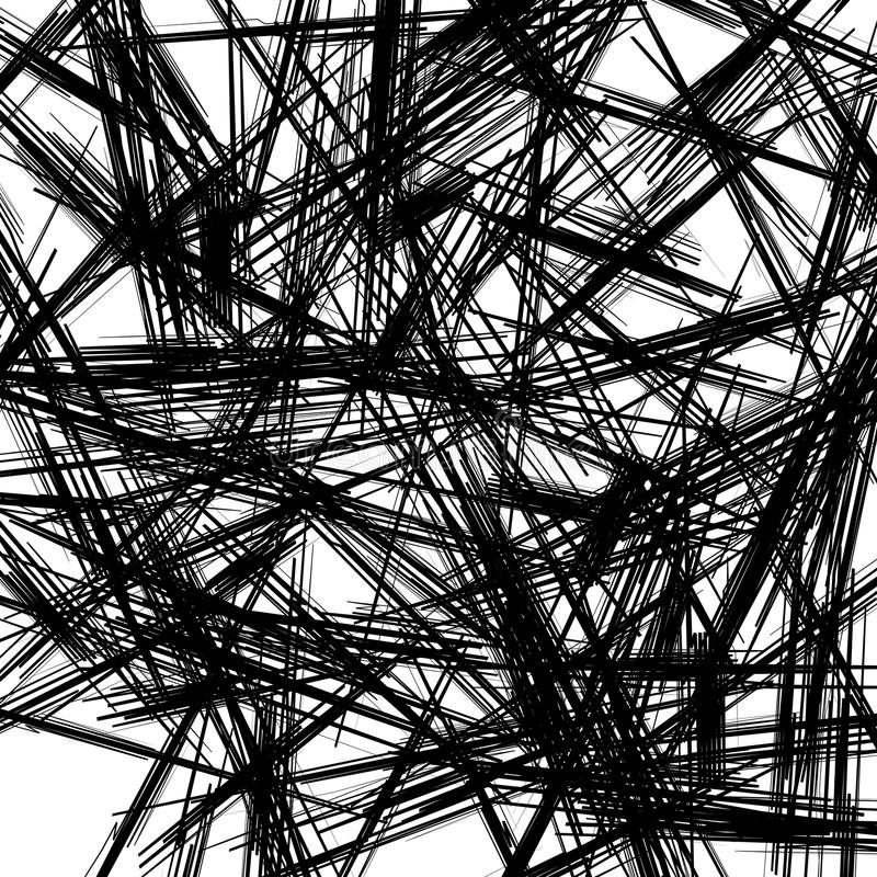 Texture chaotique avec des lignes de zigzag Modèle aléatoire approximatif illustration stock