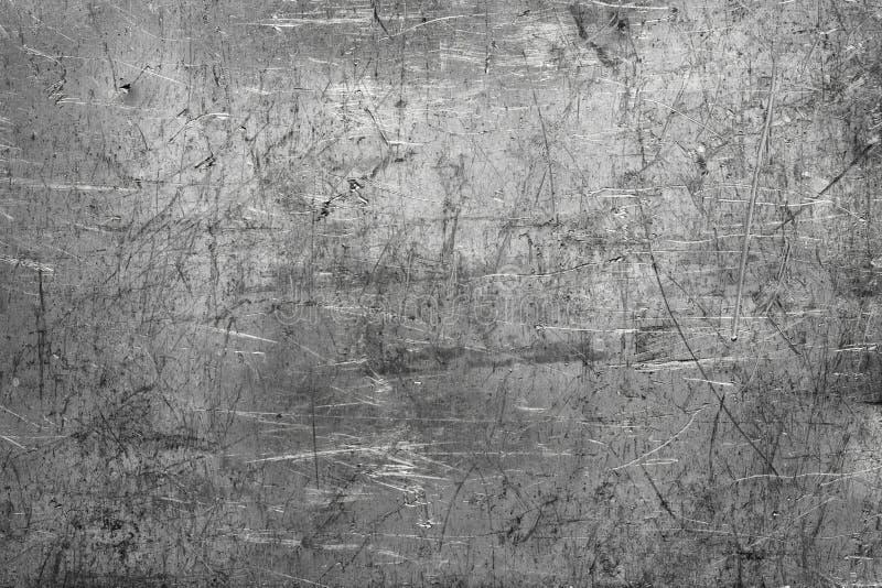 Texture chiffonnée de fond en métal, plat foncé de fer photos libres de droits