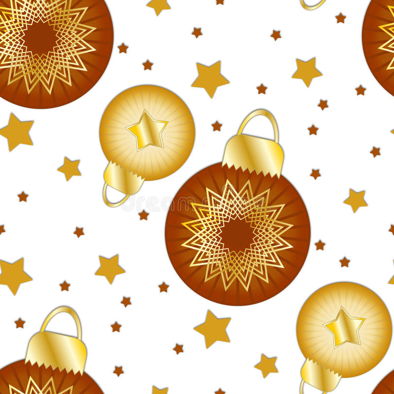 Texture With Christmas Baubles And Stars Stock Image