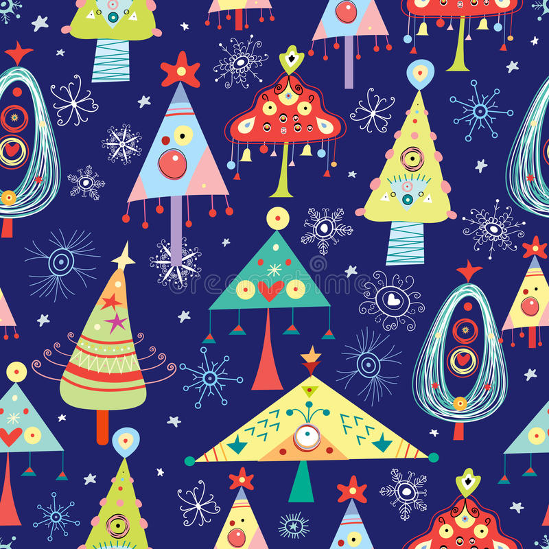 Texture Christmas Trees vector illustration
