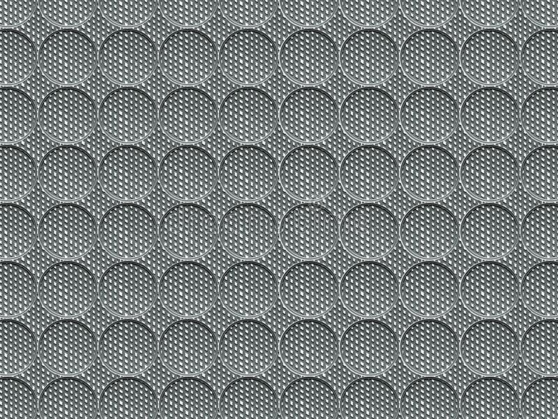 The texture is circular with a grooved surface. The image is simple and made in gray tones. royalty free stock photography