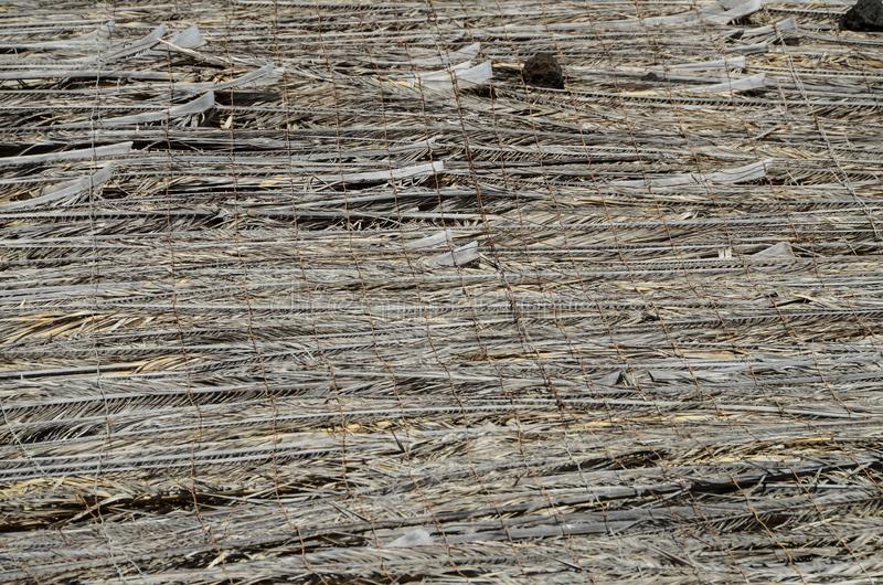 Texture of the classic thatch roof. Tropical roofing royalty free stock photography