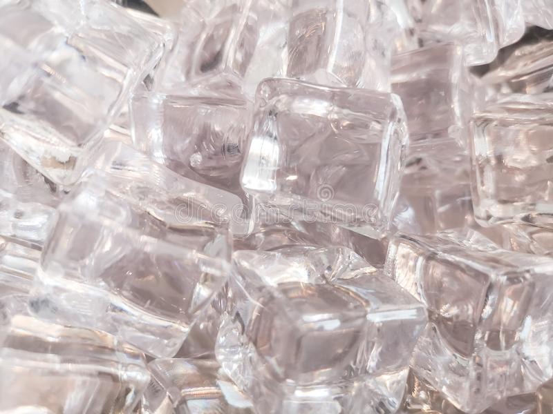 The texture of clean shiny and white square ice for background stock photos