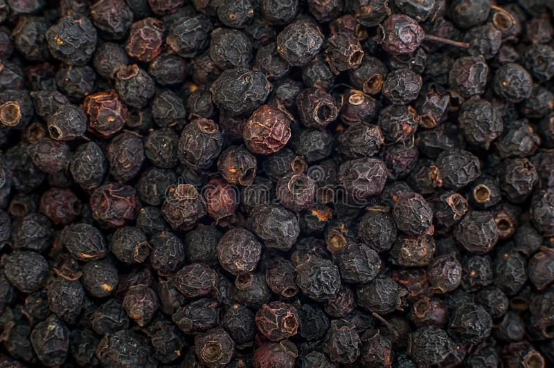 Texture of dried black berries, food background royalty free stock photos