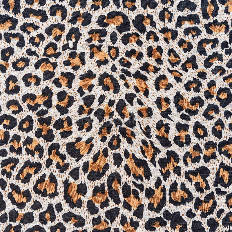 Texture of close up print fabric stripes leopard. For background stock images