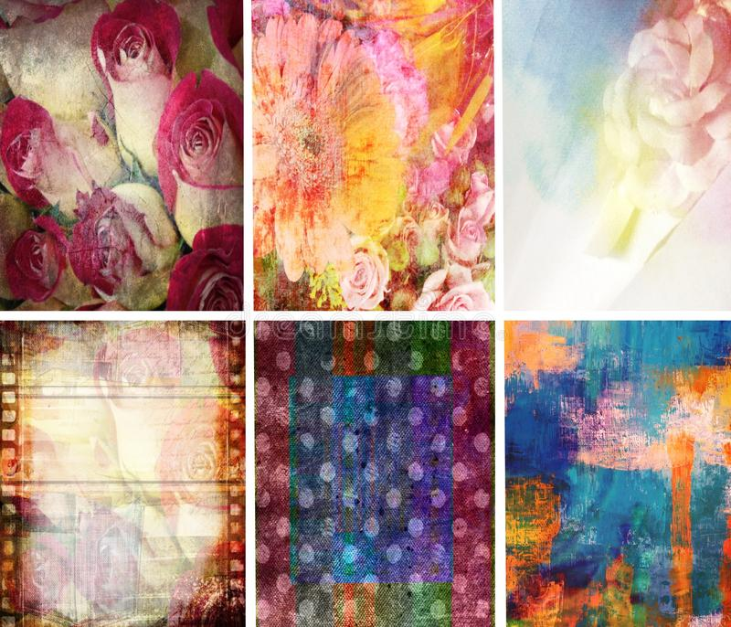 Download Texture Collection Abstract Set Of 6 Stock Illustration - Image: 28619608