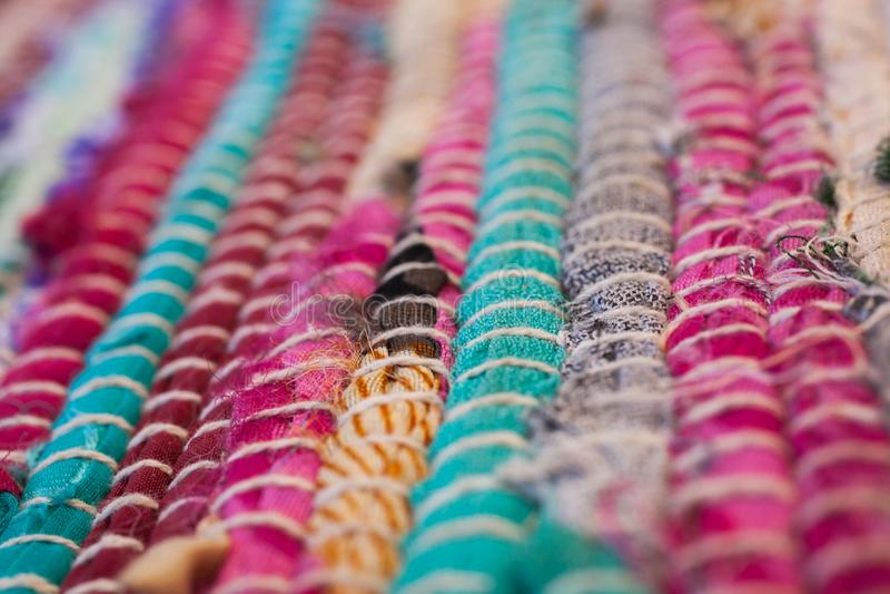 texture colorée de tapis Fond de tapis andalou Jarapa image stock