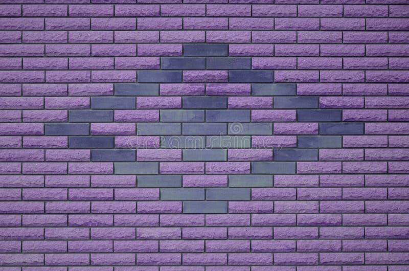 Texture colorée superficielle par les agents moderne de mur de briques d'ardoise illustration libre de droits