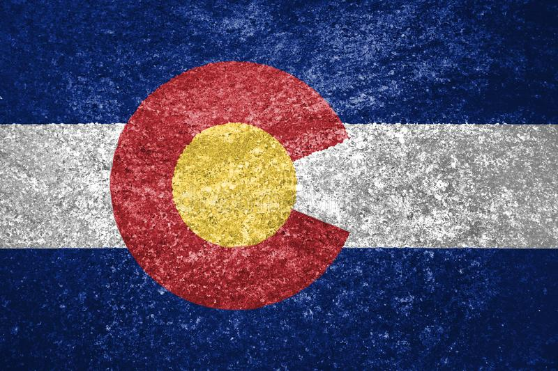 Texture of Colorado flag royalty free stock image