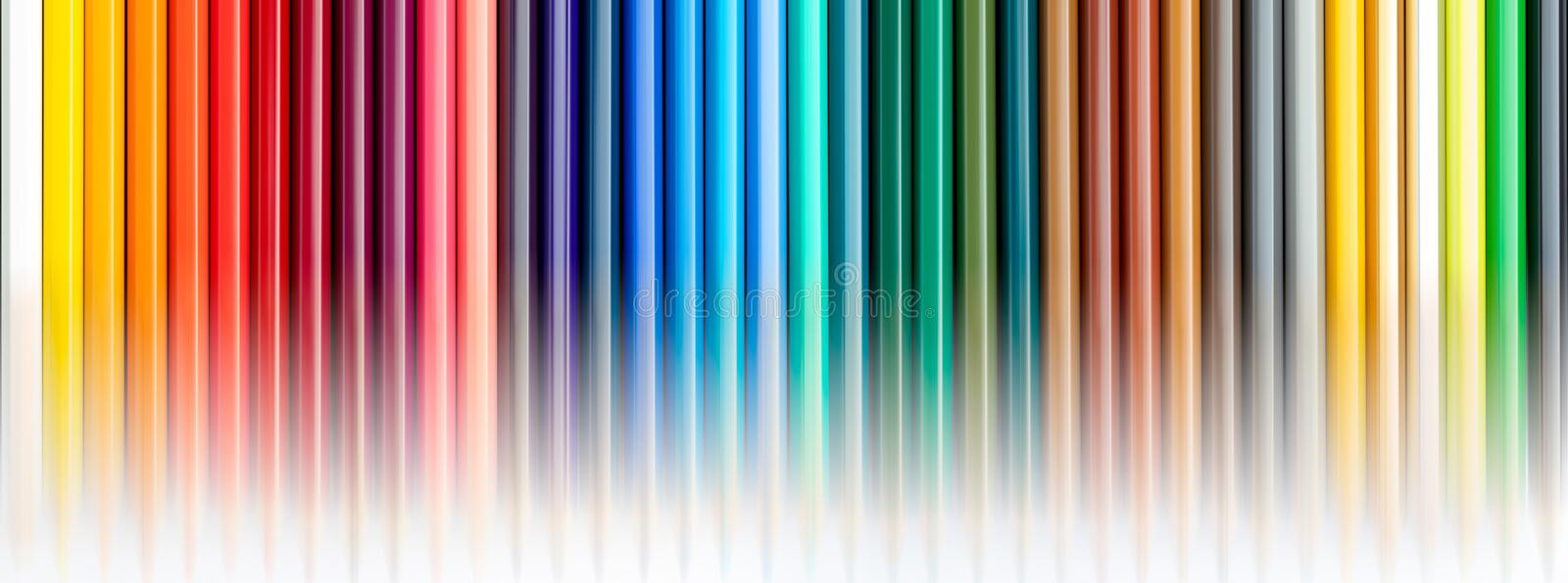 Texture colored pencils. Foreground. The whole range of colors of the rainbow. Start of school. Beautiful wallpaper. Texture colored pencils. Foreground. The vector illustration