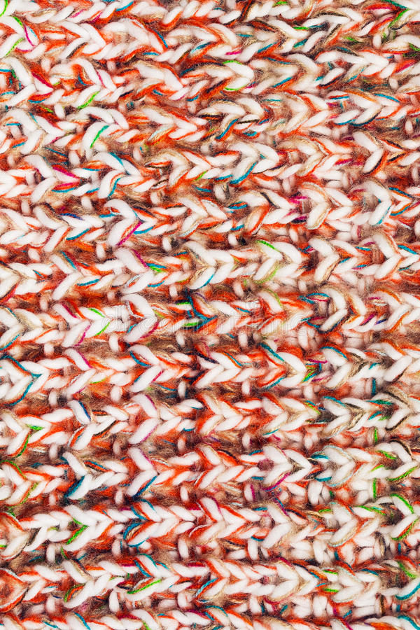 Texture of colourful knitted scarf stock photography