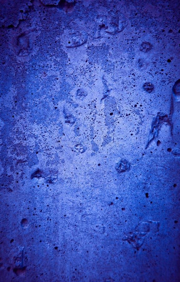 Texture concrète bleue approximative criquée image libre de droits