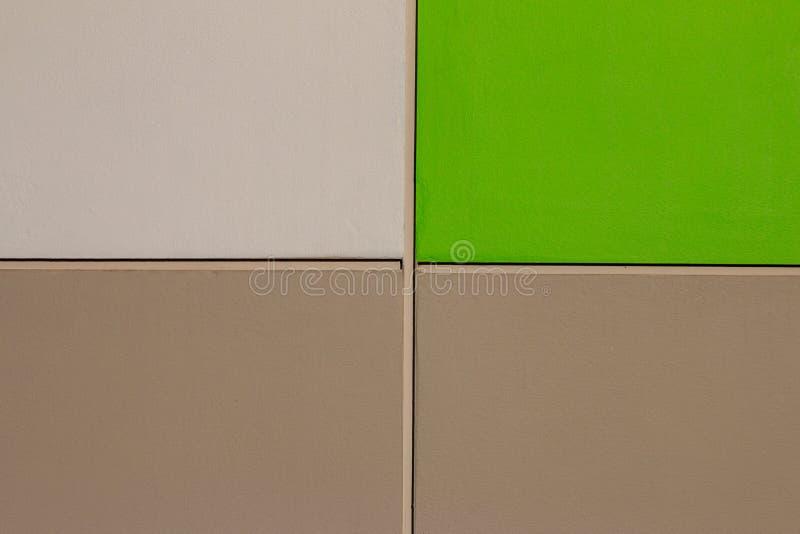 Texture concrète de ciment de plancher de vert et de Brown photo libre de droits