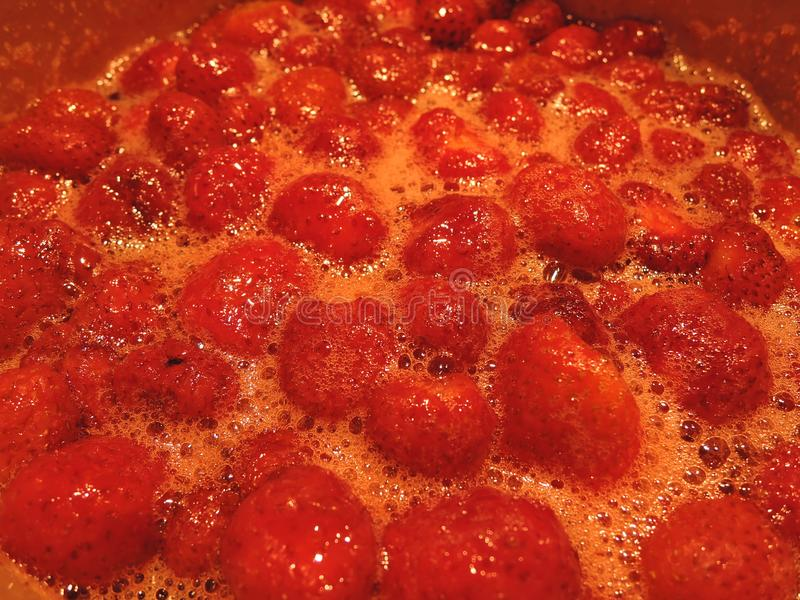 Texture : confiture de fraise, fond de thème de nourriture photographie stock