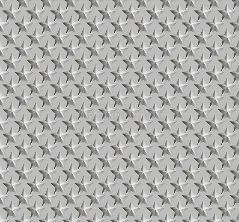 Texture of corrugated metal. Figure stars. Hue metal silver. Vector illustration EPS8. Suitable for backgrounds websites and desktop computer stock illustration