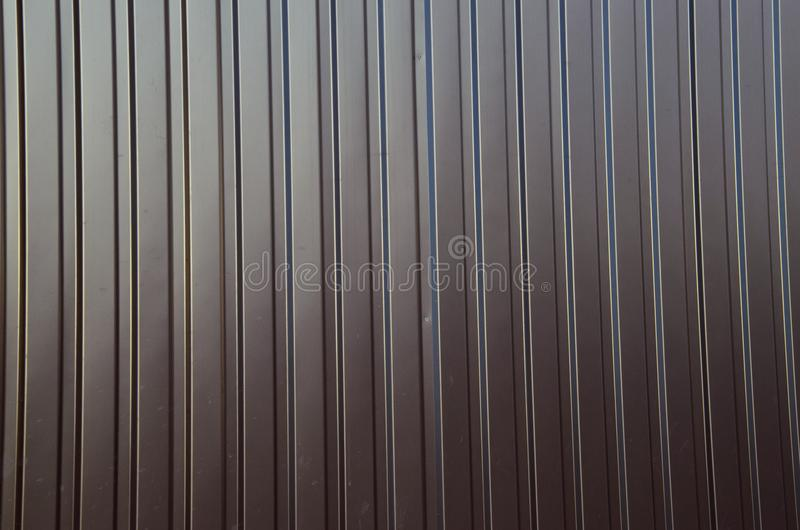 Texture of the corrugated metal sheet royalty free stock photo