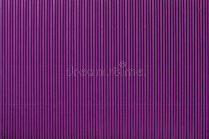 Texture of corrugated purple paper, macro. Texture of corrugated dark purple paper, macro. Striped pattern of violet cardboard background, closeup vector illustration