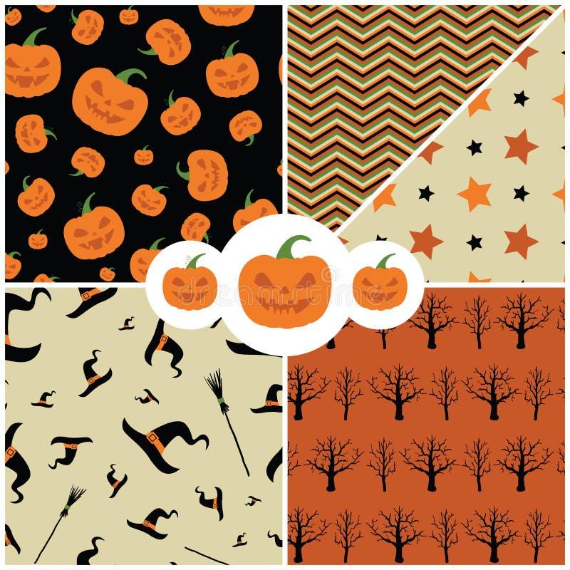 Texture créative mignonne avec la conception de thème de Halloween Vecteur de Halloween illustration de vecteur