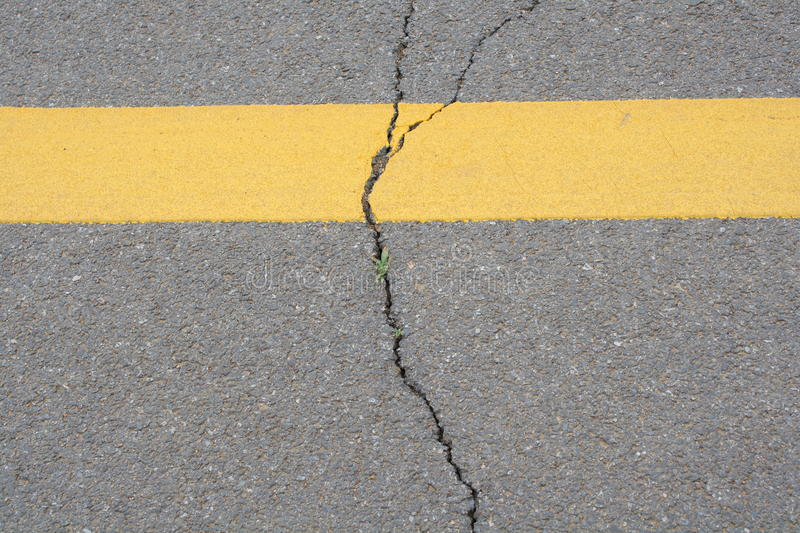 Download Texture Of Crack Line On Black Road Stock Image - Image: 33540277