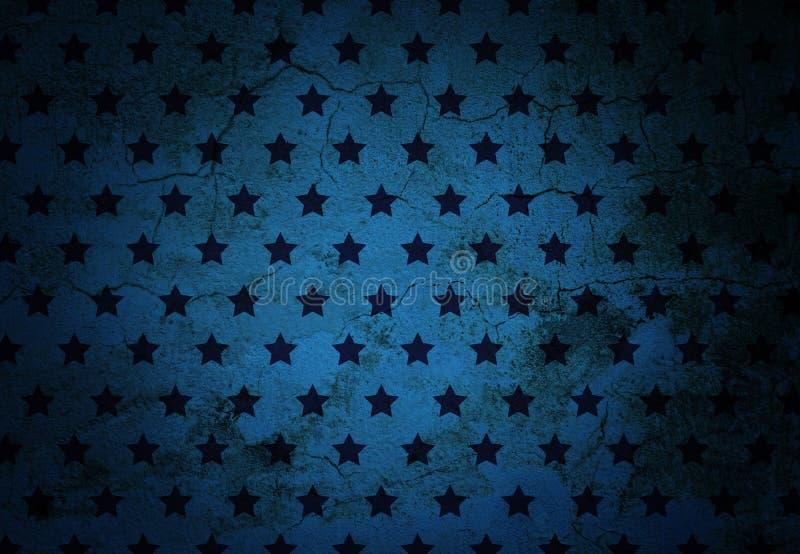 Texture criquée de mur avec les étoiles noires photographie stock libre de droits