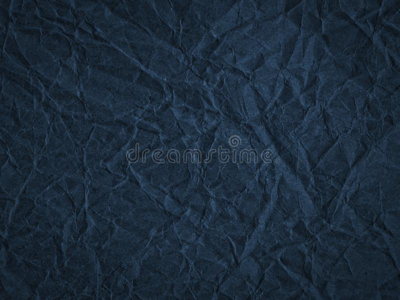 Texture of crumpled craft paper. Abstract background royalty free stock image